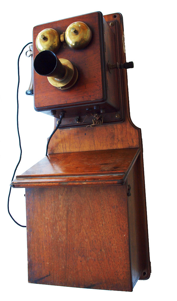 Early Wall Mounted Telephone Wooden Wall Telephone
